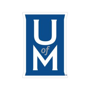 The logo for the University of Memphis offers a great history masters programs online