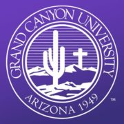 The logo for Grand Canyon University which offers one of the best value Online MBA in Project Management