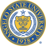 The logo for Angelo State University wich is none of the top schools for an online masters degree in criminal justice