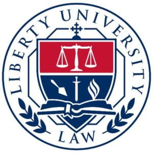 The logo for Liberty University which placed 7th in our online mpa rankings