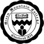 The logo for Green Mountain College which has one of the top college sustainability programs