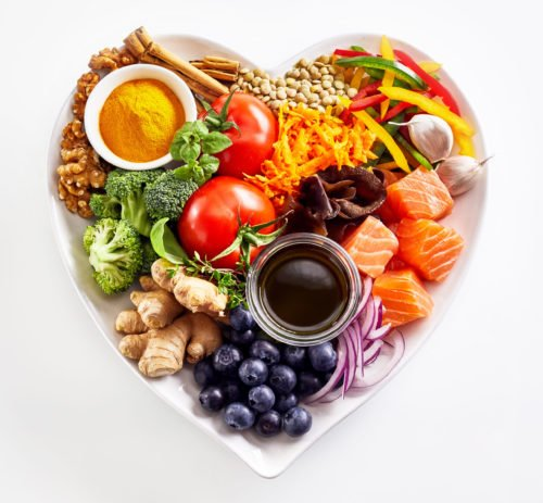 an image of super foods in a plate to accompany our article on food science scholarships