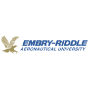 The logo for Embry-Riddle Aeronautical University Worldwide which placed 1st for  Master's in Project Management Online: Top 25 Values