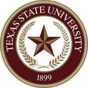 The logo for Texas State University which is one of the best undergraduate international relations