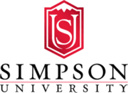 The logo for Simpson University which is one of the top liberal arts colleges with business majors