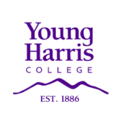 The logo for Young Harris College which  is one of the best liberal arts colleges for business