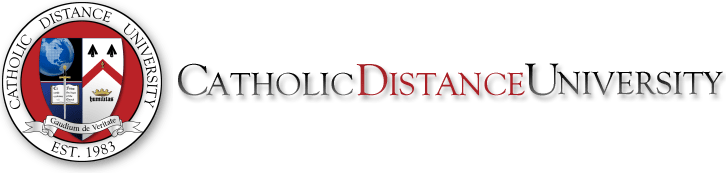 Logo for Catholic Distance University a most affordable catholic colleges entry