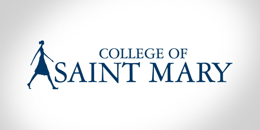 Logo for College of Saint Mary  included as one of our affordable catholic colleges in the midwest