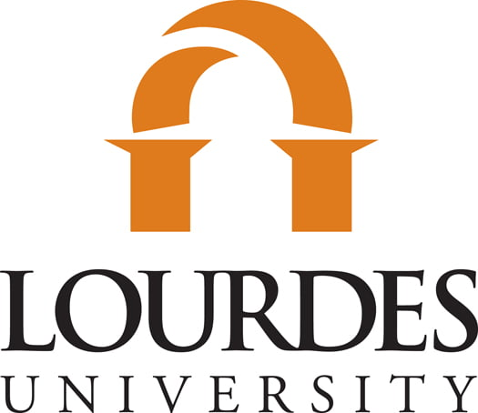 Logo for Lourdes University a small catholic colleges entry