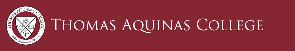 Logo for Thomas Aquinas College a small catholic colleges entry