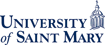 Logo for the University of Saint Mary listed as a small catholic colleges entry