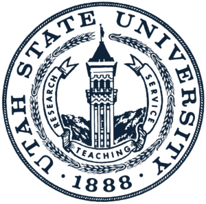 The logo for Utah State University which offers a great degree in food science