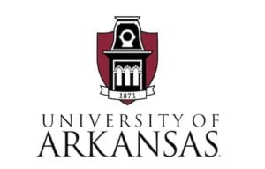 The logo for University of Arkansas which has one of the oldest campuses