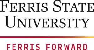The logo for Ferris State University which placed 5th in our ranking for top accelerated MSN online degree options