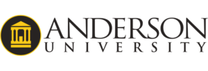 The logo for Anderson University which offers a PhD in Leadership Online