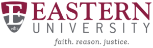 The logo for Eastern University which offers an Online PhD in Organizational Leadership program