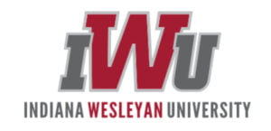 The logo for Indiana Wesleyan University which ranked 8th in our online mpa rankings