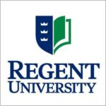 The logo for Regent University which offers an online PhD in organizational leadership