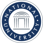 The logo for National University which is a great option for those who want to finish the program in 18 months