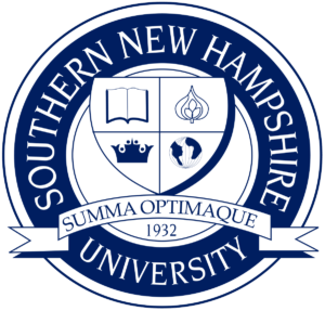 The logo for Southern New Hampshire University which has one on of the best Master's in Public Relations Online