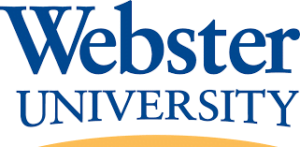 The logo for Webster university which offers a top Online Master of Arts in Public Relations