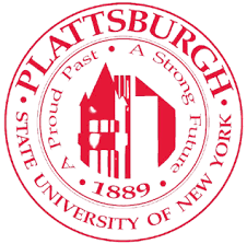The logo for Plattsburgh University which offers one of the best degrees for moms