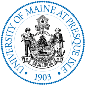 The logo for University of Maine at Presque Isle which has one of the best online english degrees