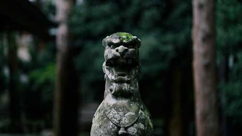 Komainu (shrine guardian dog statues)